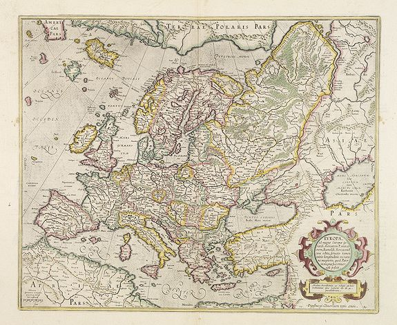 Europa, ad magnae Europae Gerardi Mercatoris.